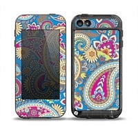 The Blue & Pink Layered Paisley Pattern V3 Skin for the iPod Touch 5th Generation frē LifeProof Case