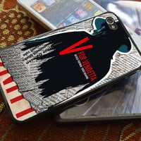 V for Vendetta iPhone 4 4S iPhone 5 5S 5C and Samsung Galaxy S2 S3 S4 Case