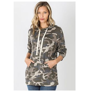 Camouflage Classic Hooded Top - Dusty Camo