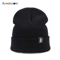 2017 New Fashion Beanies Winter Cap Skullies Knit Hat For Women Men Balaclava Bonnet Labeling Letter Hip Hop Beanie Hedging Cap