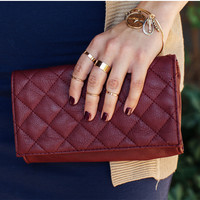 Roseanne Clutch - Burgundy
