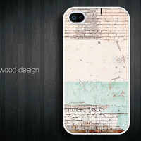unique iphone 4 case iphone 4s case iphone 4 cover iphone case old wall Time Passes design printing