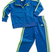adidas Baby Set, Baby Boys 2-Piece Two-Tone Tricot Jacket and Pants - Kids Baby Boy (0-24 months) - Macy's