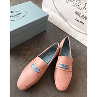 Prada Glac¨¦ Calf Leather Moccasins #2678
