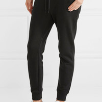 T by Alexander Wang - Stretch cotton-terry track pants