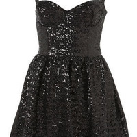 Sequin Strappy Prom Dress - Dresses  - Clothing