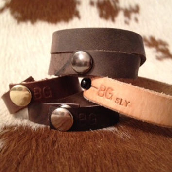 Genuine Leather Cuff/Bracelets Made To Order