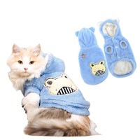 Bear Pattern Soft Sleeveless Cat Clothes