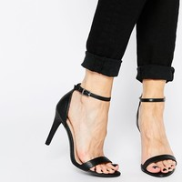 New Look Sensatory 2 Black Barely There Heeled Sandals