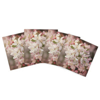 """Angie Turner """"Apple Blossoms"""" Outdoor Placemat (Set of 4) - Outlet Item"""