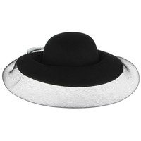 New Trendy Woolen Felt Hats For Women Fedora With Veil Wide Brim Top Hat Elegant Lady Church Panama Hat Bowler Caps