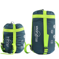 Hot Sale Ultralight Nylon Portable spring autum Outdoor Travel Camping Hiking Envelope Sleeping Bags with Compression Packet