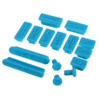 """Water & Wood 12-Pieces Silicone Anti Dust Plug Ports Cover Set For Macbook retina 13"""" 15"""" air 11"""" 13"""