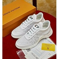 Louis Vuitton LV Classic Popular Men Personality Wave Line Running Sports Shoes Sneaker White