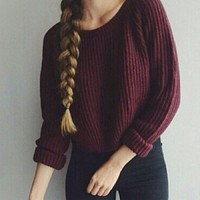 Sweet Cropped Sweater
