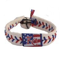 MLB Kansas City Royals Stars and Stripes Baseball Bracelet