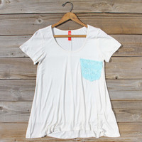 Cloudy Valley Tee in White