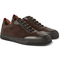 Oliver Spencer - Suede and Embossed-Leather Sneakers | MR PORTER