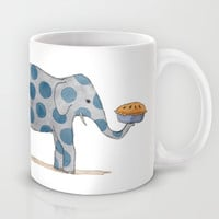 polka dot elephants serving us pie Mug by Marc Johns