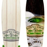 """Sector 9 Ireland 38"""" Bamboo Complete Longboard - silver trucks / green wheels - Skate Shop > Completes > Longboard Completes"""