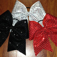 Dazzling Sequin Dot Cheer Bows