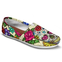 Sugar Skull Casual Shoes-Clearance