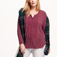 Old Navy Womens Plus Sweater Knit Henley