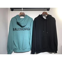 Balenciaga 2019 new letter behind the LOGO printed long-sleeved hooded sweater