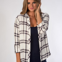 Navy/White Flannel Shirt