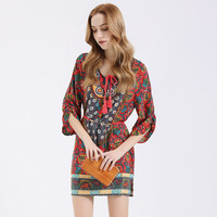 BIG SALE On Summer Bohemian Women Print Dress