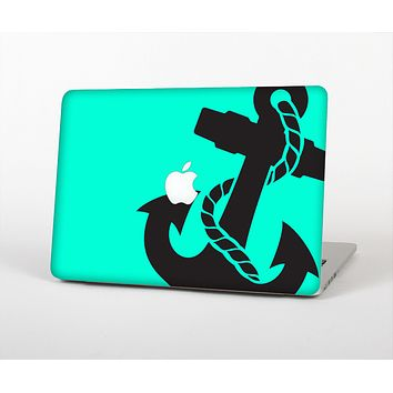 """The Trendy Green & Black Nautical Anchor Skin for the Apple MacBook Air 13"""""""