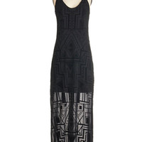 ModCloth Long Sleeveless Maxi The Beat Flows On Dress