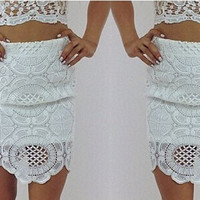 Claudia Lace Skirt