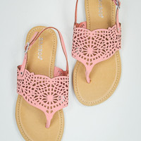 Simple Summer Sandal in Peach
