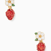 picnic perfect strawberry drop earrings | Kate Spade New York