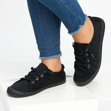 Round Toe Flat Sneakers