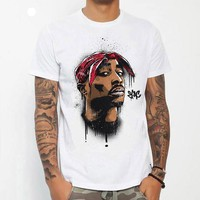 Tupac Men T -Shirt Shirt Top Tee