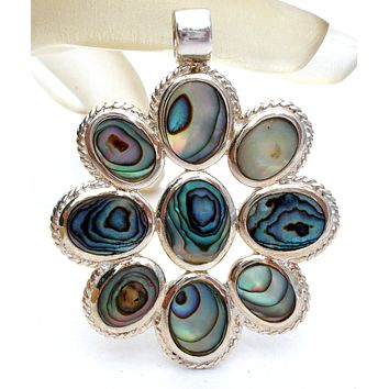 Sterling Silver Pendant with Abalone