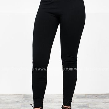 Siloe High Waist Fleece Leggings | Colors