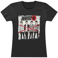 5 Seconds Of Summer  Album Cover Junior Top Black
