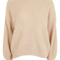 Travelling Rib Blouson Jumper - Sweaters & Knits - Clothing