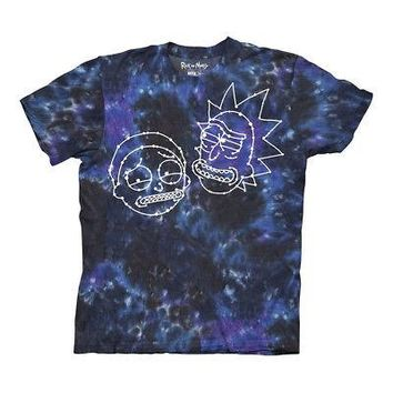 Rick And Morty Constellation Faces Adult Swim Licensed Unisex T-Shirts - XXL