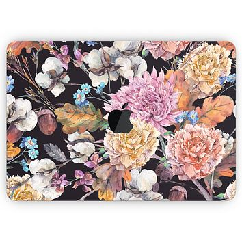 """Summer Watercolor Floral v1 - Skin Decal Wrap Kit Compatible with the Apple MacBook Pro, Pro with Touch Bar or Air (11"""", 12"""", 13"""", 15"""" & 16"""" - All Versions Available)"""