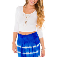 Lani Crop Top - White