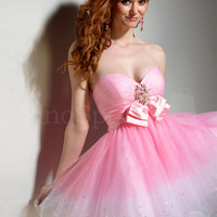 Pretty Ball Gown Sweetheart Bowknot Organza Graduation Dress from SinoSpecial