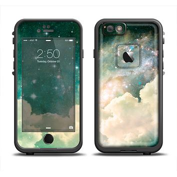 The Cloudy Abstract Green Nebula Apple iPhone 6 LifeProof Fre Case Skin Set