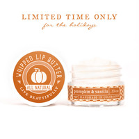 Pumpkin & Vanilla - Whipped Lip Butter - Natural Icing for Your Lips