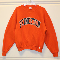 Vitnage // Princeton // Sweatshirt // Pullover // Crew Neck // Orange // Large