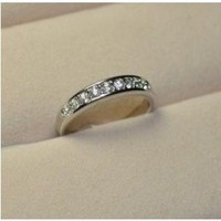 Simple Sparkle Cubic Zirconia Rings Jewelry SP02408