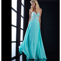 Mint Green Strapless Beaded Sweetheart Gown